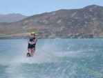Water skiing with Oi cap